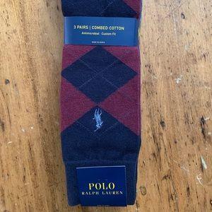 NWT Men's Polo by Ralph Lauren Socks